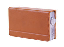 Portable radio. With leather cover isolated over white (clipping path Royalty Free Stock Images