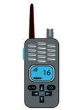 Portable radio. Illustration of a portable radio or walkie talkie Stock Photo