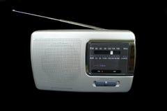 Portable Radio. Old style portable radio with antenna Stock Image