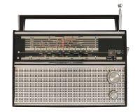 Portable radio. Portable old soviet radio, isolated on white background Royalty Free Stock Photography