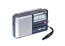 Portable Radio. Black and silver Portable Radio, isolated on white background Stock Images