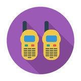 Portable radio. Flat vector icon for mobile and web applications. Vector illustration Stock Photo