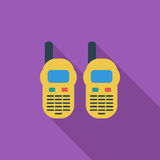 Portable radio. Icon. Flat vector related icon with long shadow for web and mobile applications. It can be used as - logo, pictogram, icon, infographic element Stock Image