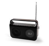 Portable radio receiver isolated on white Stock Photography