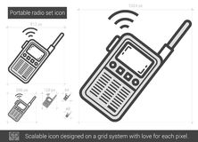 Portable radio set line icon. Stock Photography