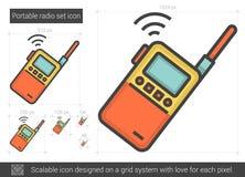 Portable radio set line icon. Royalty Free Stock Image