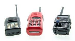 Portable radio sets isolated on white background Royalty Free Stock Images
