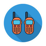 Portable radio. Single flat color icon on the circle. Vector illustration Royalty Free Stock Image