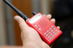 Portable radio transceiver Royalty Free Stock Images
