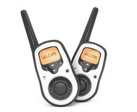 Portable radio transceivers. 3d rendering Royalty Free Stock Images