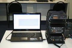 Portable radio, walkie-talkie, navigation, laptop Stock Photography