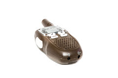 Portable radio  on a white background. Amateur walky talkie radio on a white surface Royalty Free Stock Image