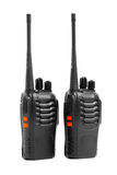 Portable radios Walkie-talkie on white Stock Photo