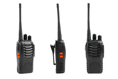 Portable radios Walkie-talkie on white Stock Images