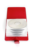 Portable red  CD/DVD case Stock Photography