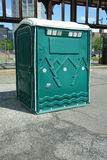 Portable Restroom. A green portable restroom in New York City Stock Images