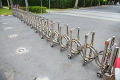 Portable road blocker. Metal steel foldable royalty free stock photography