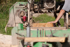 Portable sawmill Royalty Free Stock Image