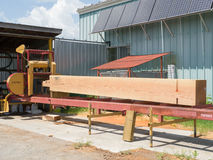 Portable Sawmill. A portable sawmill with a large beam Royalty Free Stock Images