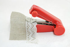 Portable sewing machine Royalty Free Stock Photo