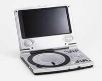 Portable Silver DVD Player Royalty Free Stock Photos
