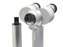 Portable slit lamp isolation on white. Portable or handheld slit lamp biomicroscope isolation on white Royalty Free Stock Image