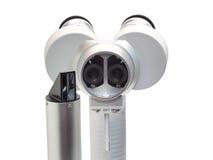 Portable slit lamp isolation on white Stock Image