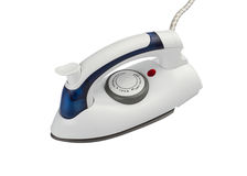 Portable small steam iron Royalty Free Stock Images