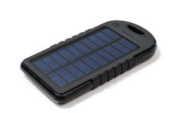 Portable solar charger for smart phone Royalty Free Stock Images