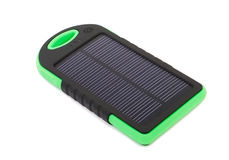 Portable solar panel for charging mobile Royalty Free Stock Images