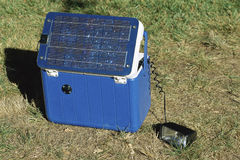 Portable solar power pack Stock Photo