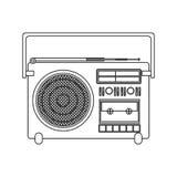 Portable solider Recorder des Konturnschattenbildes Lizenzfreies Stockfoto