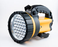 Portable spotlight. Black and yellow portable spotlight Royalty Free Stock Photos