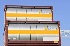 Portable storage tanks Royalty Free Stock Image