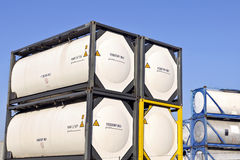 Portable storage tanks Royalty Free Stock Images