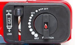 Portable Stove's Knob. stock image