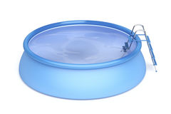 Portable swimming pool. On white background Stock Image