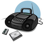 Portable tape recorder with CD player Royalty Free Stock Photo