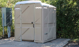 Portable toilet. Large plastic portable toilet for use by outdoor enthusiasts Stock Photography