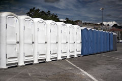 Portable toilets. Outdoors in the city Stock Image