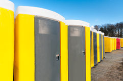 Portable toilets Royalty Free Stock Image
