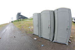 Portable Toilets. At a sporting event Royalty Free Stock Photo