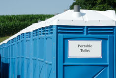 Portable toilets at a festival Royalty Free Stock Photos