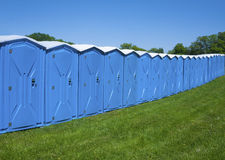 Portable toilets stock images