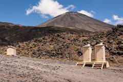 Portable toilets in Tongariro National Park Royalty Free Stock Photo
