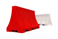 Portable traffic barriers Stock Photos