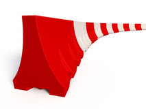 Portable traffic barriers. 3d render of Portable traffic barriers on white background Stock Photos