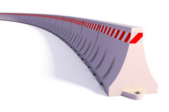 Portable traffic barriers. 3d render of Portable traffic barriers on white background Stock Image