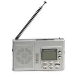 Portable transistor radio receiver stock photo