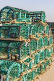 Lobster Pots on the quayside, Whitby. royalty free stock image